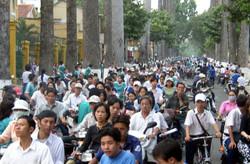 バイクによる渋滞