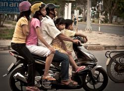 バイクの5人乗り