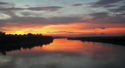 紅河の夕日