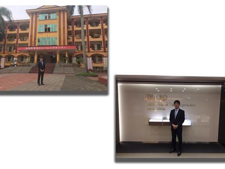 ベトナム内の送り出し機関・日本語学校への表敬訪問
