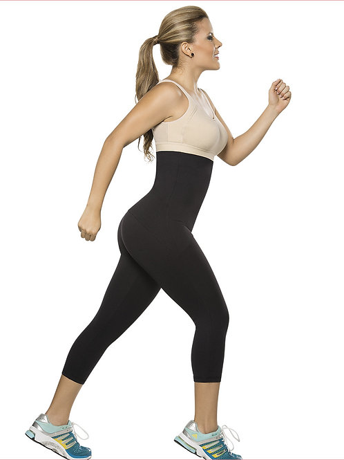 SPORT PANTS PLUS WAIST TRAINER CAPRI D6002