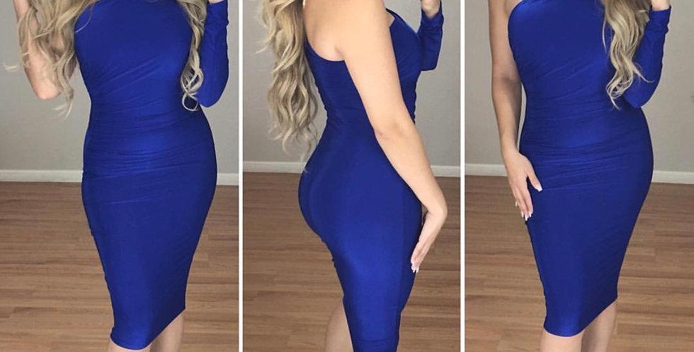 Lebanon Midi Dress (Blue)