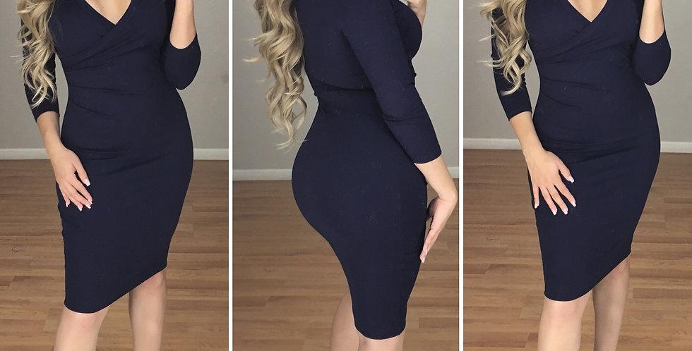Sofia Midi Dress (black)
