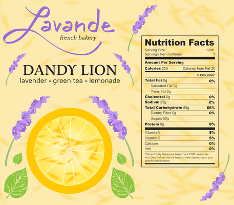 Lavande French Bakery Soda Can Packaging