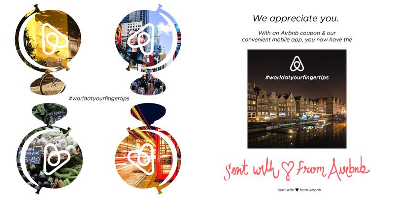 Airbnb #WorldAtYourFingerTips Campaign