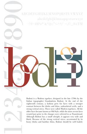 Bodoni Typeface Poster