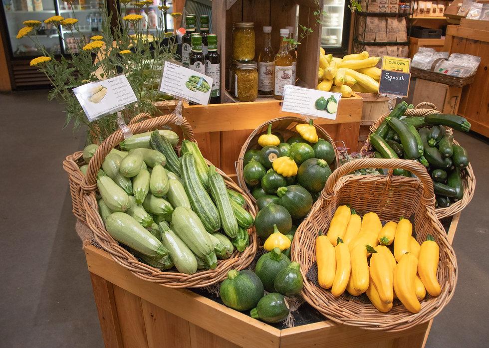 farm market summer squash display coua ribbed yello eightball zucchini pattypan 1.jpg