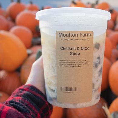 farm kitchen chicken orzo soup fall flannel pumpkin background.jpg