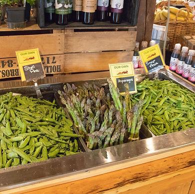 farm market shell peas snap peas asapara