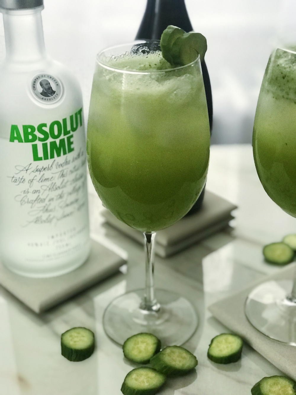 drinks with vodka and cucumber