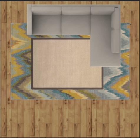rug size layout example
