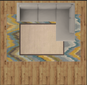 rug size layout example