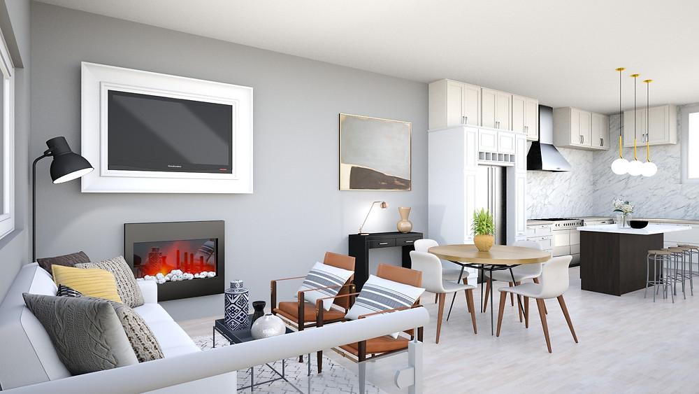 open floor plan decor ideas