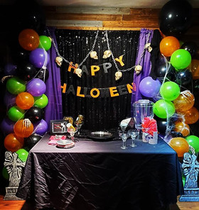 #Halloween #Party #Balloon Backdrop Set-