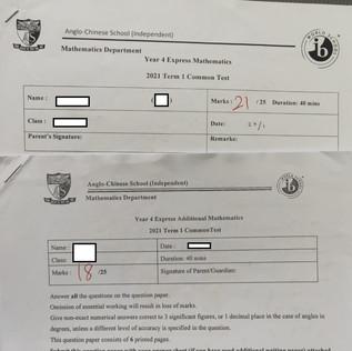 Secondary 4 A and E Math