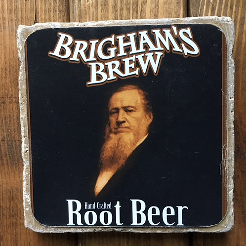 Wasatch Brigham's Brew Root Beer Coaster