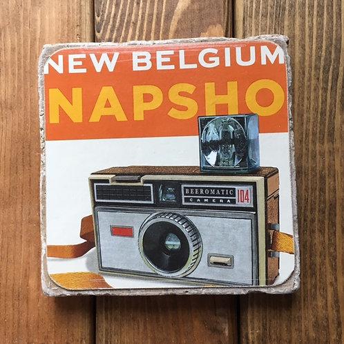 New Belgium Snapshot Coaster