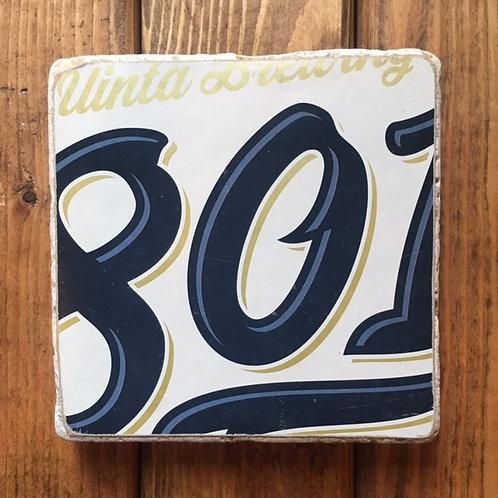 Uinta 801 Pilsner Coaster