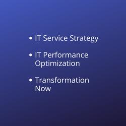 IT Service Strategy IT Performance Optim