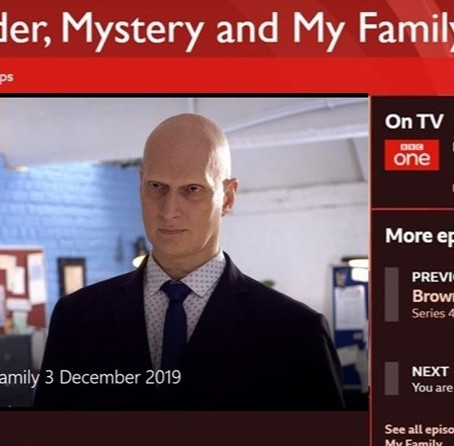 Josh Davis on BBC1's Murder, Mystery and My Family