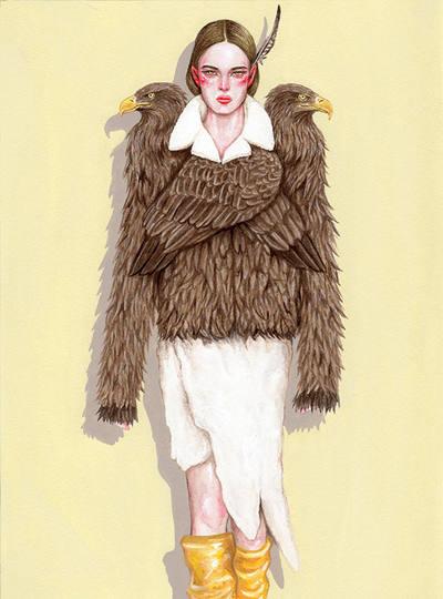 Vêtements d'aigle