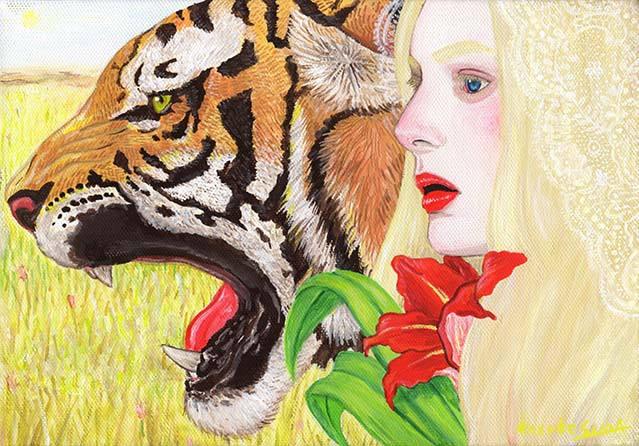 虎と女 干支寅