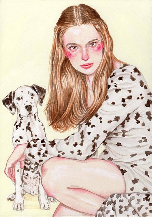 Dalmatian girl