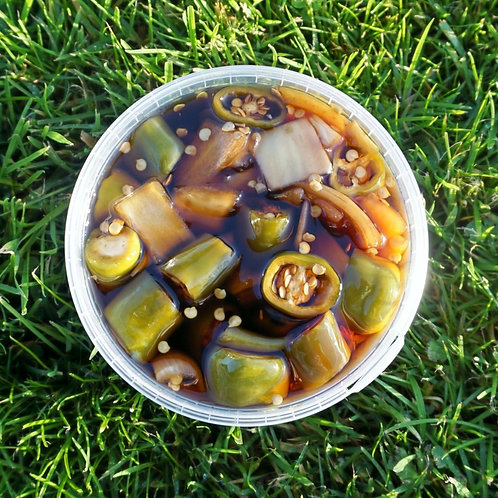 Soy pickled peppers (고추장아찌) 180g