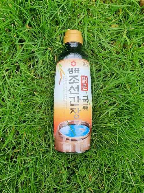 Chosun light soy sauce - 조선 맑은 국간장 (500ml)