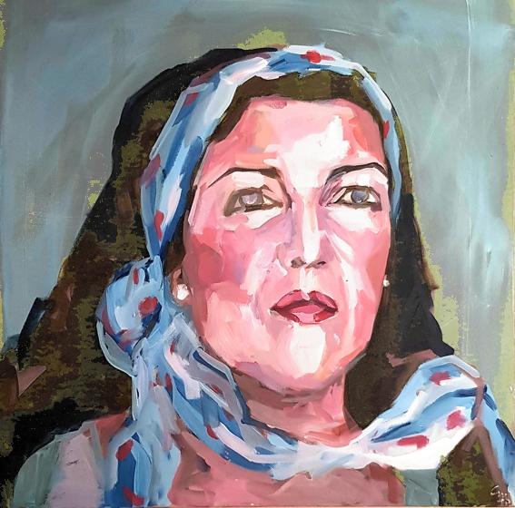 Selbstportrait 80 x80