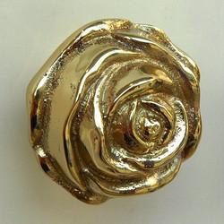 バラ型ツマミ(ゴールド)