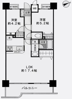 ナイスアーバン藤沢3階平面図