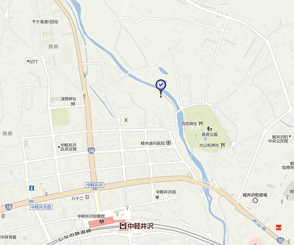 中軽井沢エリア 湯川沿い