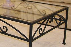 アイアンガラステーブル(ブラック)