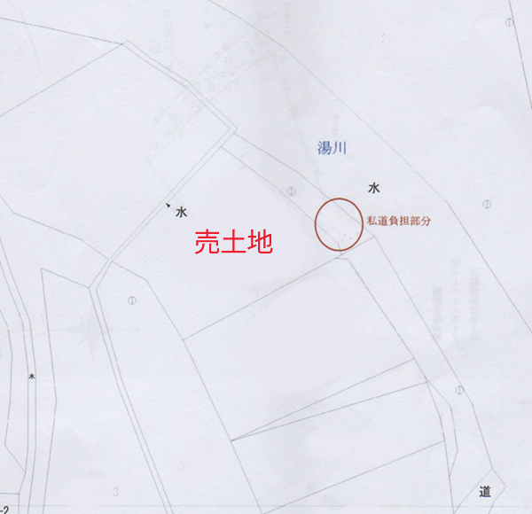 土地周辺図 中軽井沢エリア 湯川沿い