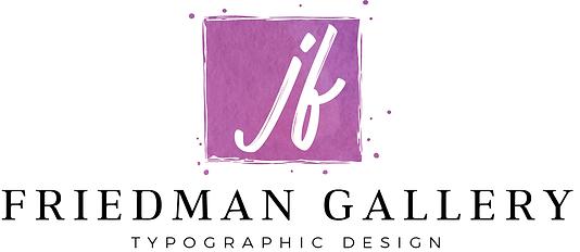 Typography Art | The Friedman Gallery - Typographic Design