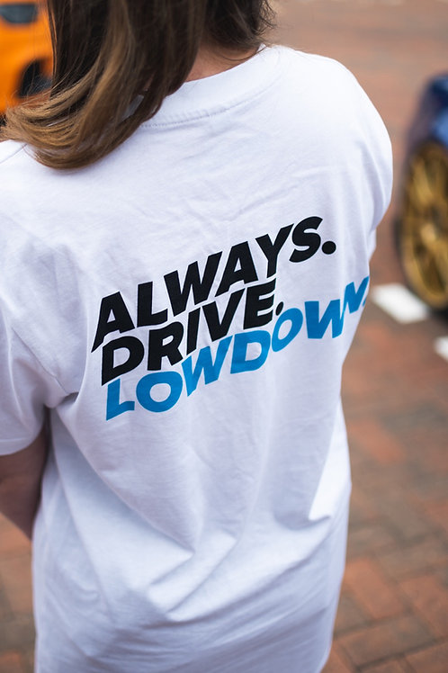 WHITE ALWAYS DRIVE TEE