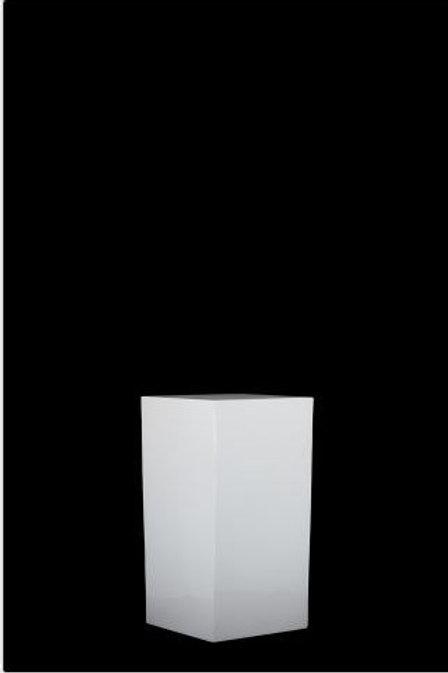 White Straight Plinth Small
