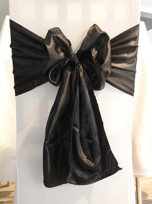 Black Designer Satin