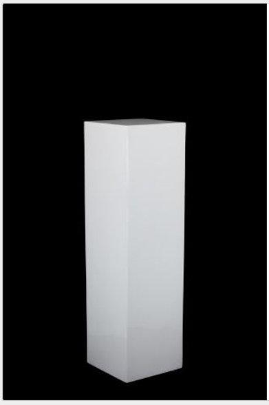 White Straight Plinth Large
