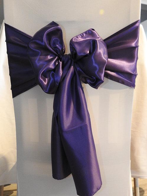 Purple Designer satin