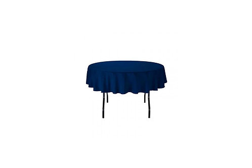 "Navy 108"" Round Tablecloths"