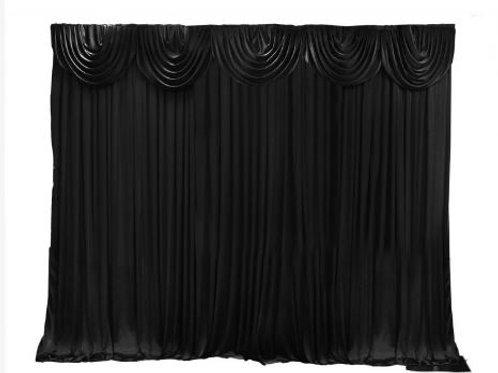 Black Backdrop 6 Meter