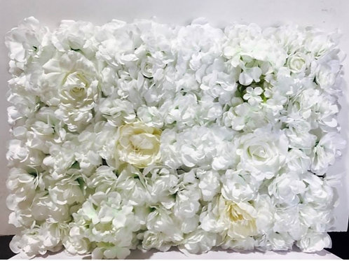 White Ivory Flower Wall