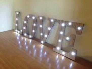 Rustic LED Love