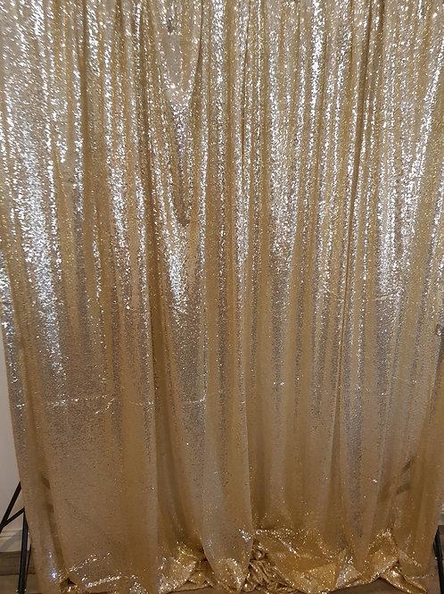 Gold Sequin Backdrop 6 Meter
