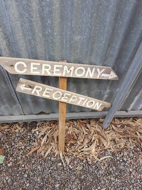 Ceremony Reception Sign