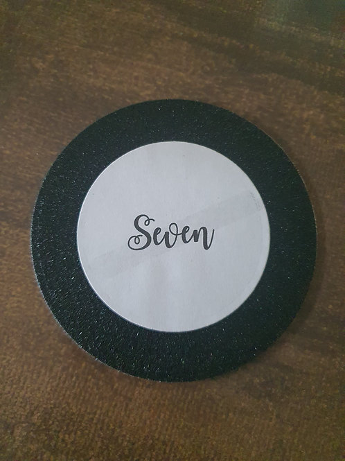 Black Glitter Table Number