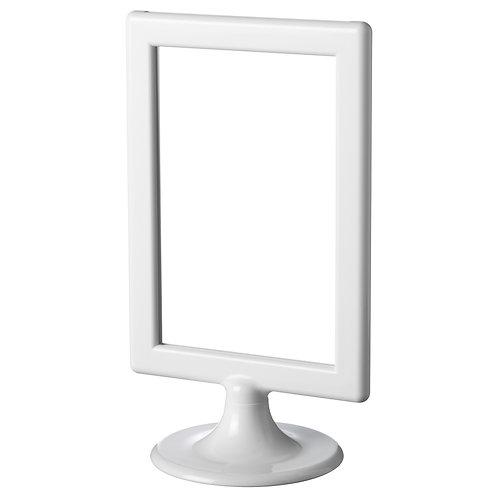 White Freestanding Frame