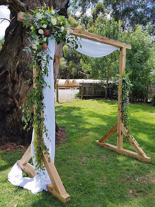 Raw Solid Wood Arch